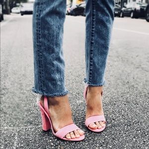 Peoni Pink suede sandals